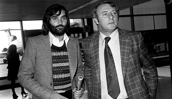 George Best & Tommy Docherty - Heathrow Airport - London